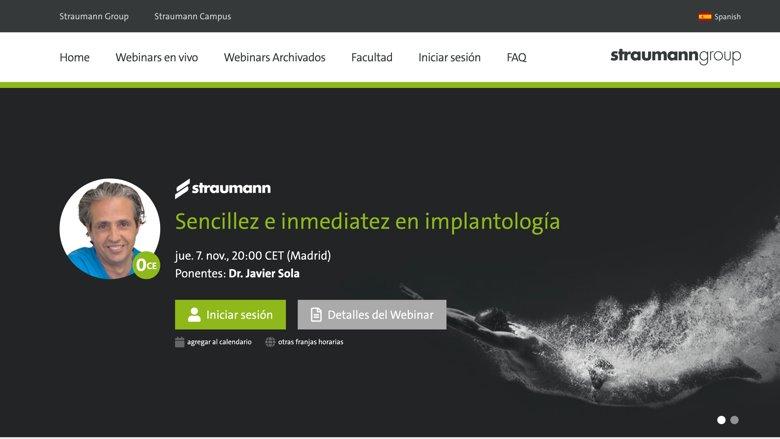 Más webinars, más idiomas: La plataforma de e-learning dental del Grupo Straumann crece