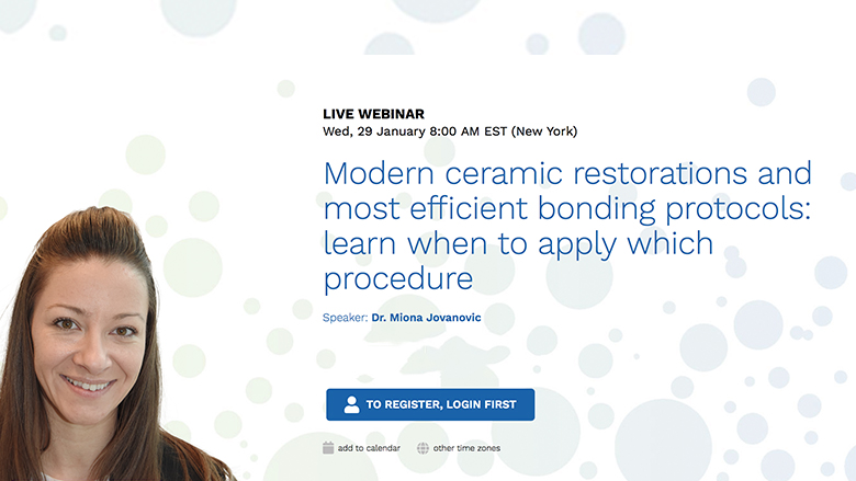 Expert discusses modern ceramic restorations in free webinar