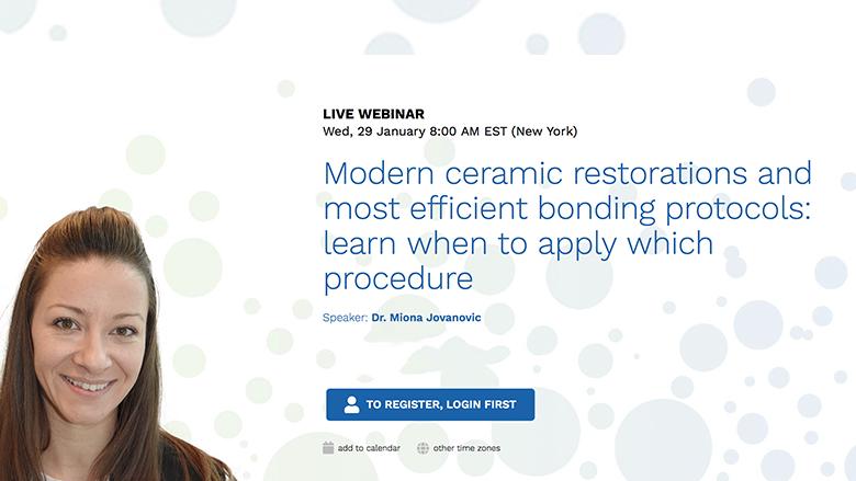 Expert discusses modern ceramic restorations in free webinar