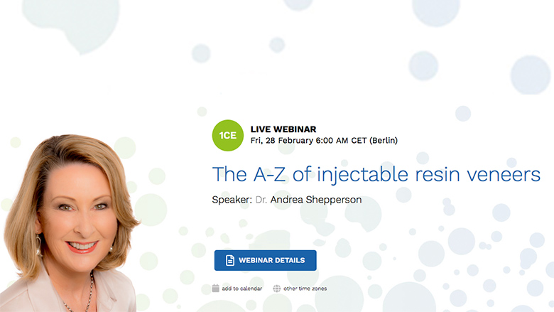 Free webinar focuses on injectable composite resin veneers