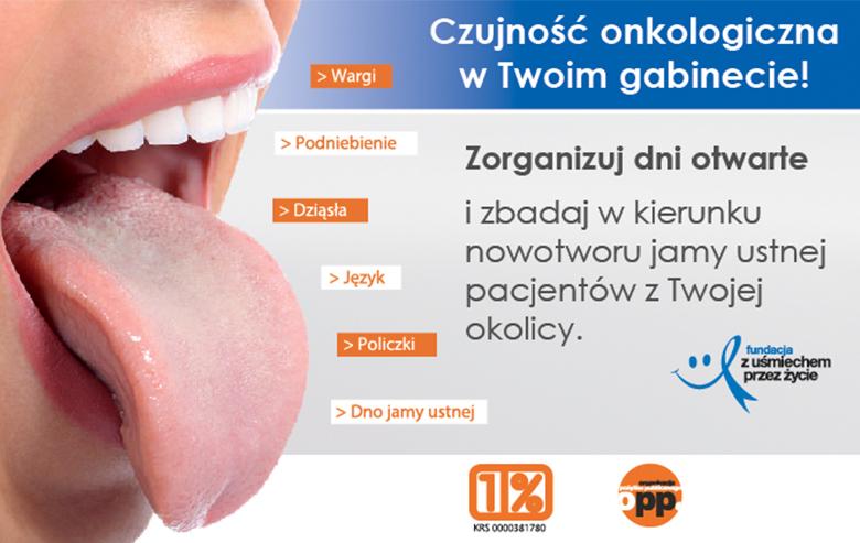 """""""Profilaktyka stomatologiczna – profilaktyka przeciwrakowa"""" – dni otwarte w gabinetach"""