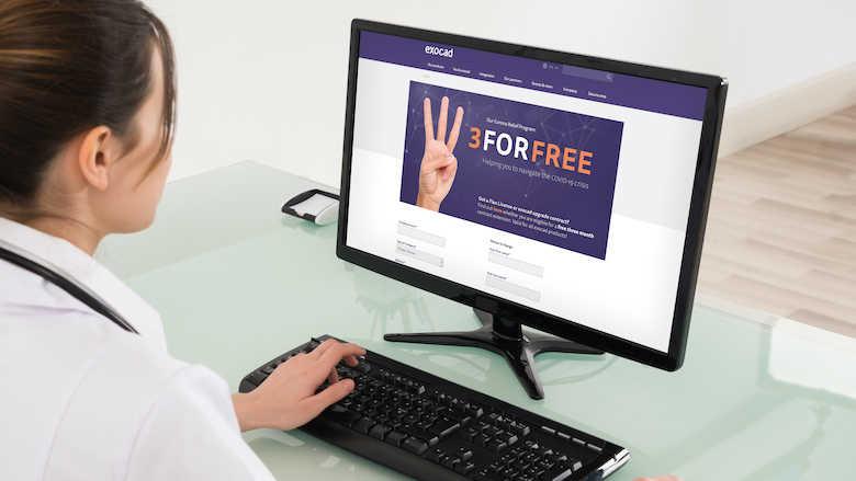 Usuários exocad de licença Flex ou contrato de atualização ativo podem obter extensão de uso