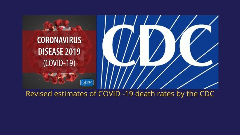 New estimate by CDC reduces COVID-19 death rate to just 0.26% (IFR) from WHO's 3.4% (CFR)