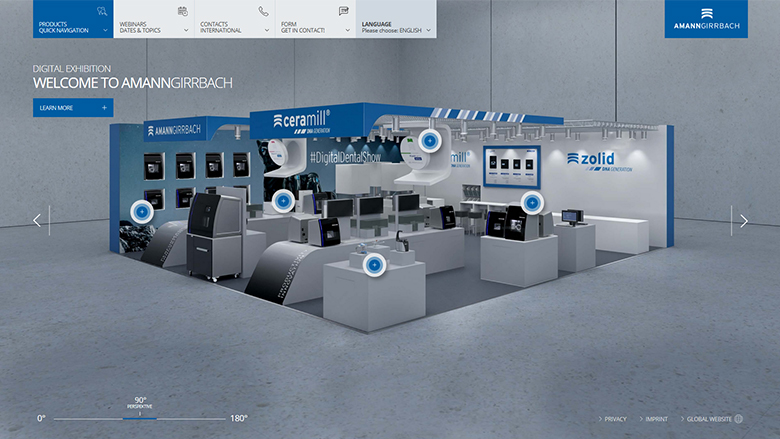 Digital Dental Show: Amann Girrbach virtual exhibition stand offers added value