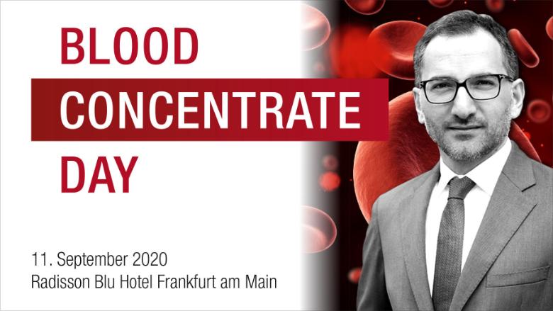 Im September in Frankfurt: Blutkonzentrate im Praxisalltag