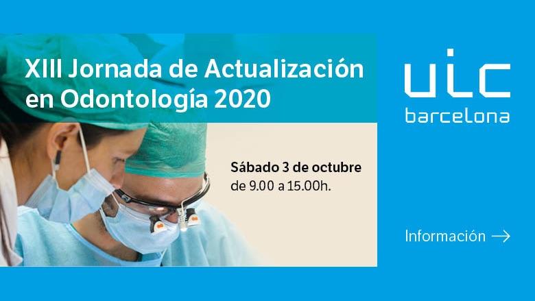 XIII Jornada de Actualización en Odontología – JAO 2020
