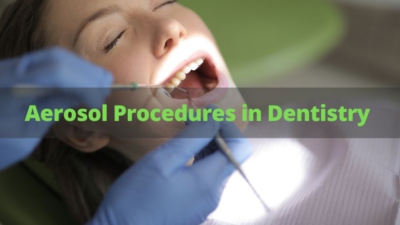 Little risk from dental aerosol procedures: 10 minutes gap is enough between two procedures