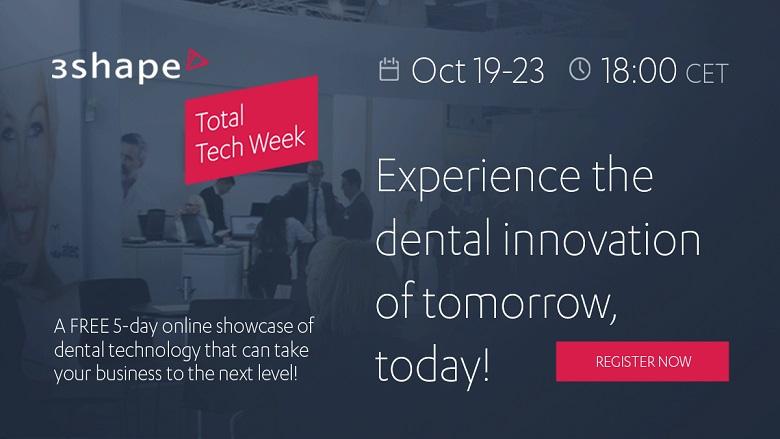 3Shape Total Tech Week: Provate l'innovazione dentale di domani!