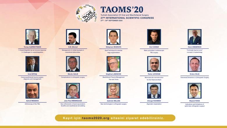 TAOMS 2020 Kongresi 27 Eylül'de Başlıyor