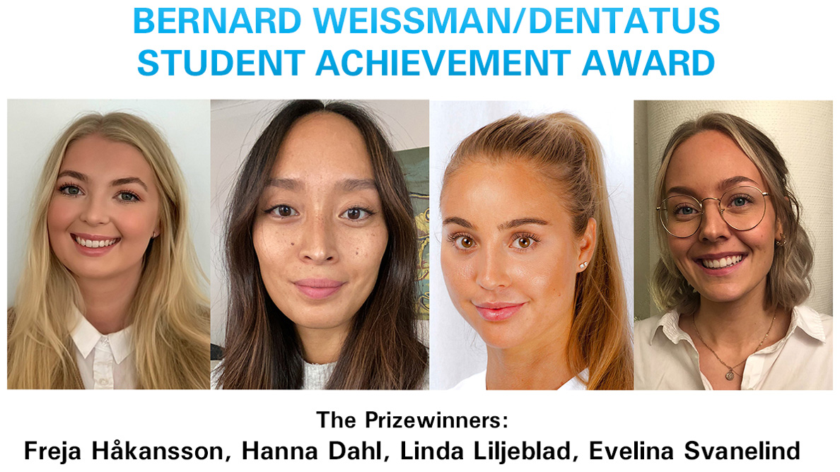 Sweden's top dental students receive Weissman/Dentatus award
