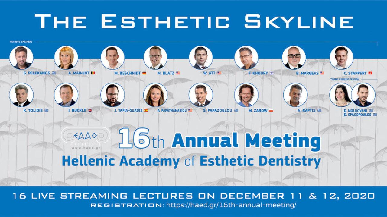 Αγγίζοντας τον ορίζοντα της Αισθητικής Οδοντιατρικής: 16o Eτήσιο Συνέδριο της EAAO, online.