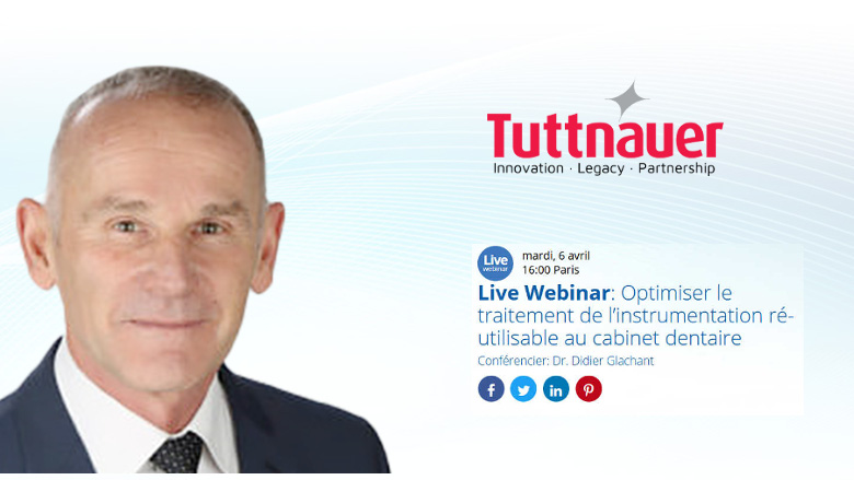Live Webinar : Optimiser le traitement de l'instrumentation ré-utilisable au cabinet dentaire