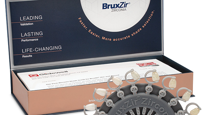 Glidewell introduces shade guide for BruxZir Zirconia dental restorations