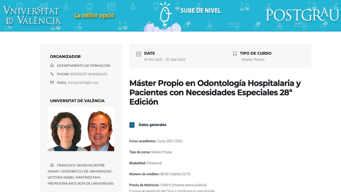 Un Máster en Odontología Hospitalaria que abre puertas
